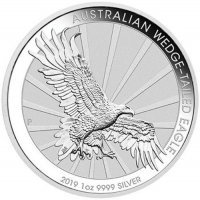 Srebrna moneta Australijski  Orzeł  / Wedge-tailed Eagle  1 oz  2019