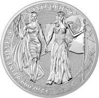 Srebrna moneta Columbia i Germania  2 oz  2019