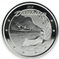 Srebrna moneta Dominika / Nature Isle  Dominica (Eastern Caribbean 3 ) - 1 oz    2018  r.