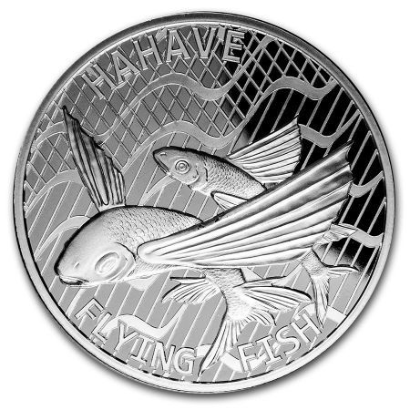 Srebrna moneta Flying Fish , Tokelau 1 oz  2020