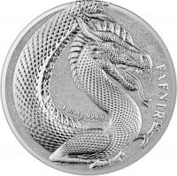 Srebrna moneta Germania Beasts: Fafnir Geminus 1 oz 2020