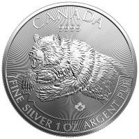 Srebrna moneta  Niedżwiedż Grizli/  Predators  Grizzly 1 oz   2019  r
