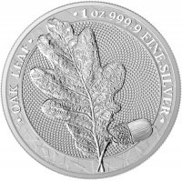 Srebrna moneta Oak Leaf  1 oz 2019