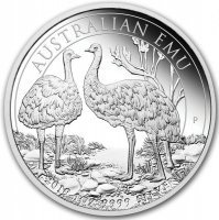 Srebrna moneta Perth Mint  EMU 2019