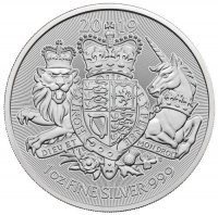 Srebrna moneta Royal Arms  1 oz 2019