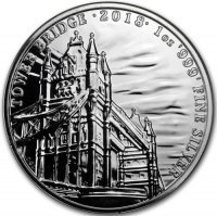 Srebrna moneta Tower Bridge/ Landmarks of Britain    1 oz   2018