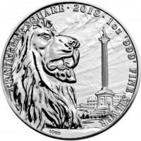Srebrna moneta Trafalgar Square / Landmarks of Britain    1 oz   2018