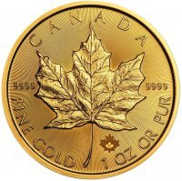 Złota moneta  Liść Klonowy (Maple Leaf )  1 oz  2021